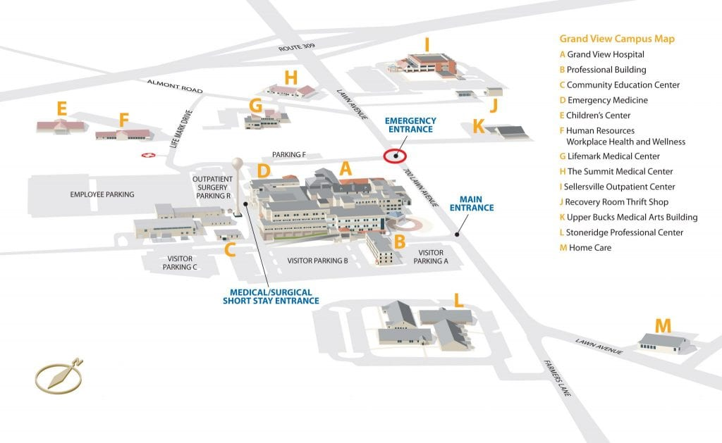 Grand View Campus Map