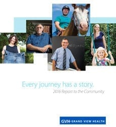 """Every Journey Has A Story."" 2016 Report to the Community cover."