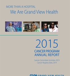 2015 Cancer Program Annual Report cover.