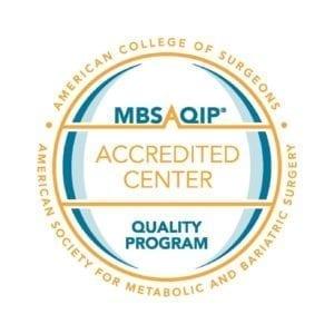 MBSAQIP Accredited Center Quality Program badge.