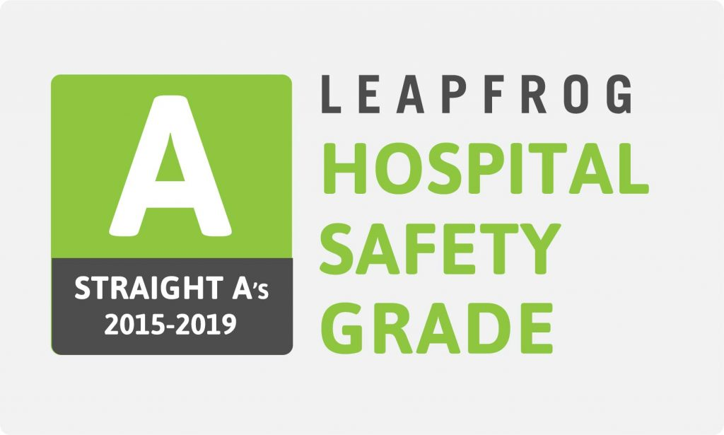 """Grand View Earns Eighth Consecutive """"A"""" For Hospital Safety"""