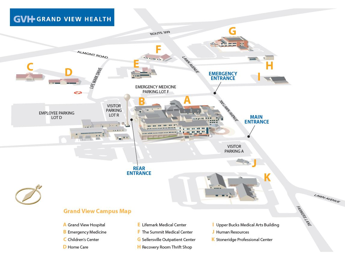 Grand View Campus Map.